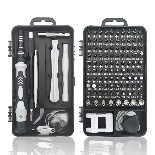 118 in 1 Mini torx Set cacciavite Elettricista Professionali magnetici Stella giraviti Kit cacciaviti precisione per iPhone,iPad,Smartphone,Orologio,Riparazione cellulari,Tablet, Laptop,Occhiali