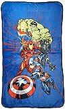 Jay Franco Marvel Avengers Launch Silk Touch Blanket, Blue