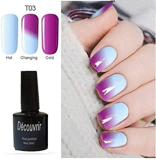 CoCocina Decouvrir Temperature Change Nail Uv Gel Color Changing Polish Gradient Thermal Chameleon Cute - 03