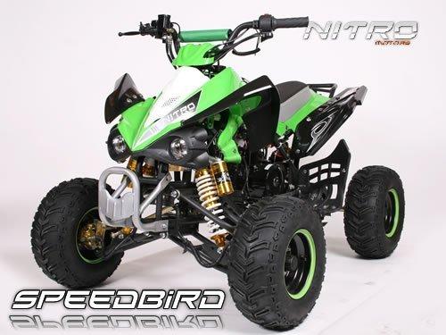 Speedbird 110cc CXR 110 Midi Quad Automatik+RG+3xBremse ATV BIKE (Schwarz-Grün)