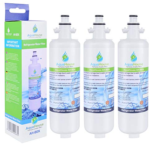 3x AH-BEK Kühlschrank Wasserfilter für Beko 4874960100, Howdens HJA6110, Lamona LAM6100, Blomberg KFD9952PXDUK, Grundig GSN9440XA Kompatibel