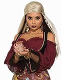 shoperama Anello trasparente con sfera di cristallo e sfera di magia Zigefinin Hellseherin Magierin
