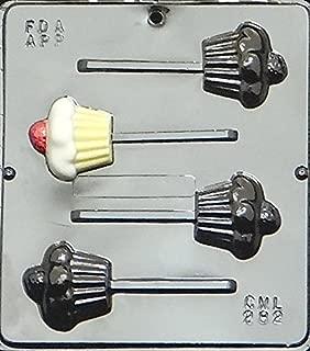 Cupcake Lollipop Chocolate Candy Mold 282