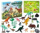 KreativeKraft Calendrier De L'avent Dinosaure Advent Calendar 2020 avec 24 Accessoires et Dinosaures À Découvrir