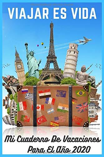 cuaderno de vacaciones 2020: cuaderno de vacaciones para adultos 2020 : Cuaderno / diario forrado, 120 páginas, 6x9, tapa blanda, acabado mate