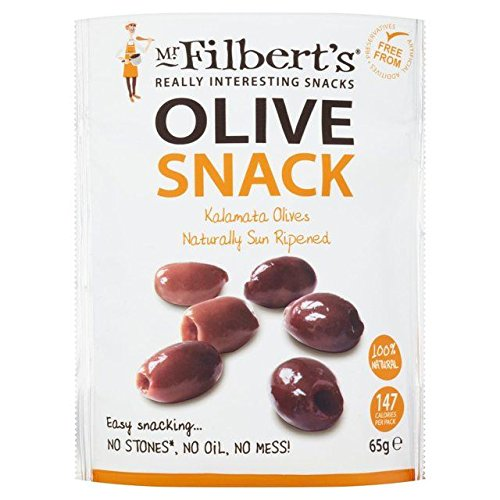 Mr Filberts Olive Snacks Pitted Kalamata Olives - 65g (0.14lbs)