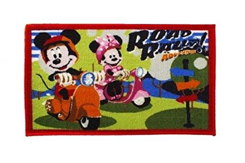 Tappeto per bambini Bambini Tappeto Multicolore Con Minnie e Topolino/Tappeto/Tappeto Gioco da bambini/Bambini/bambini tappeto/arazzo/modello tappeto per bambini Disney Minni e Topolino/Un meraviglioso e tappeto per bambini con Minnie e Mickey è in der misura 45x 75cm