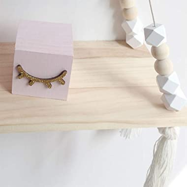 Generic 3X Natural Floating Rope Wall Hanging Shelf Plant Book Shelves Farmhouse Storage