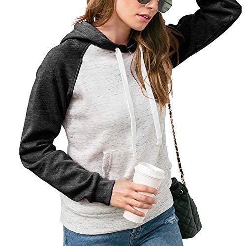 XLKJ 2021 Fashion Womens Casual Hoodies Sweatshirt Patchwork Ladies Hooded Blouse Pullove Warm Hoodies For Women Winter