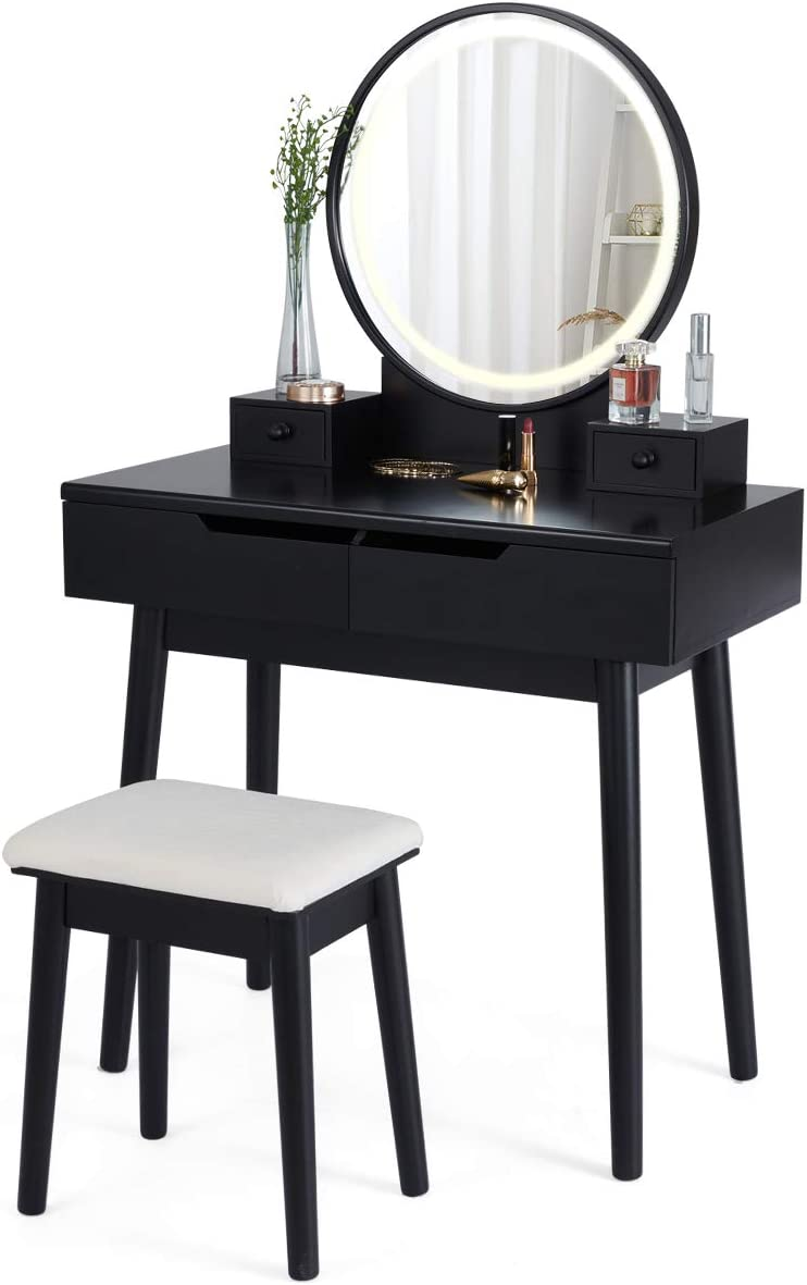 MELLCOM High quality new Makeup Vanity Table 25% OFF with Lighted Set,Dressing
