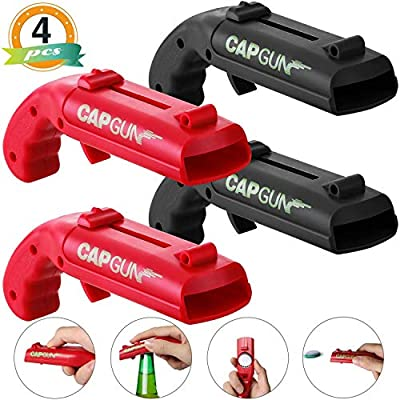 Cap Gun Beer Bottle Opener 2020 New Plastic Launcher Shooter for Drinking Party Game 4 Pack from