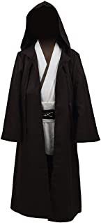 Kids Jedi Costume Robe Hooded Cape Tunic Outfit for Halloween Costume