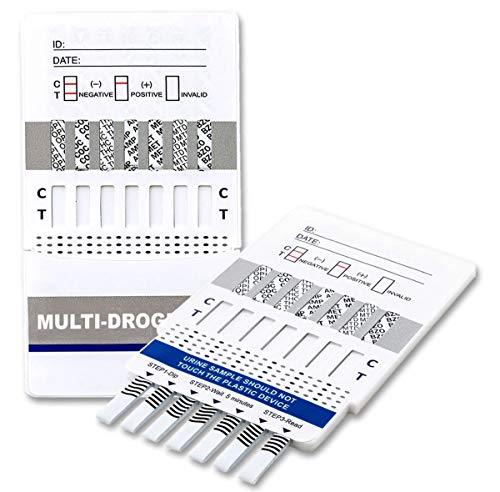 5 x Drogenschnelltest für 7 Drogenarten - Kokain - Cannabis - Methampetamin - Opiate - Amphetamine - EDDP - Benzodiazepine