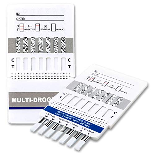 5 x One+Step Drogentest, Drogenschnelltest für 7 Drogenarten I Kokain I Cannabis I Methampetamin I Opiate I Amphetamine I EDDP I Benzodiazepine