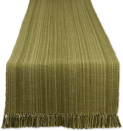 DII Varigated Tabletop Collection Table Runner 13x72 Olive Green product image