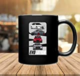 Taza de café Mitsubishi Evo Lancer Evolution JDM