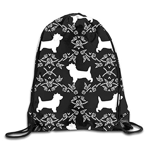 Dyfcnaiehrgrf Cairn - Mochila con cordón para perro, mochila de hombro, bolsa de gimnasio, mochila para correr, 14,2 x 16,9 pulgadas