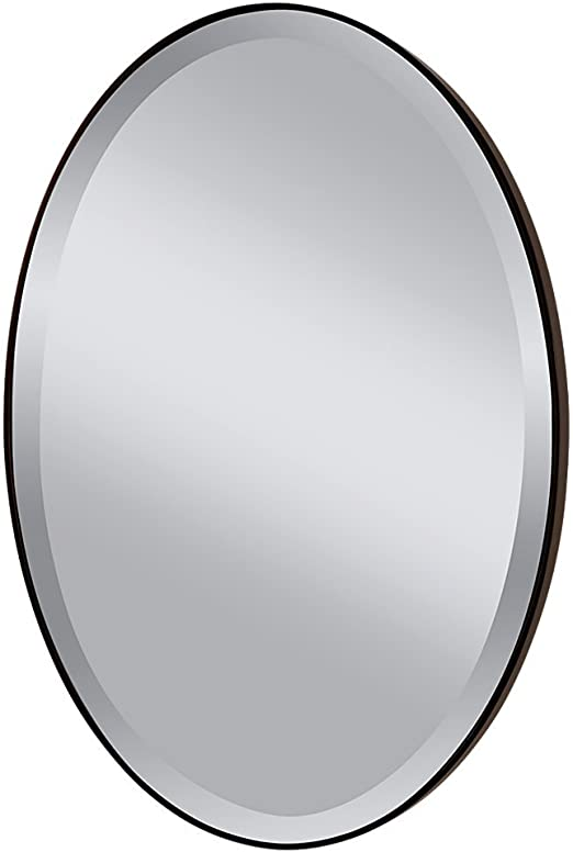 Amazon Com Feiss Mr1126orb Johnson Wall Mount Mirror Oil Rubbed Bronze Office Products