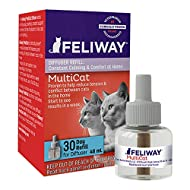 Feliway MultiCat Calming Diffuser Refill (1 pack, 48 ml) | Vet Recommended | Reduce Fighting and Con...