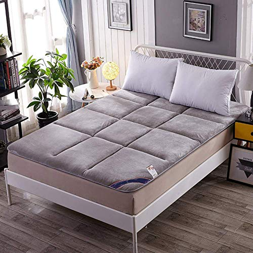 SADDPA Mattress Topper Cover Floor Futon Japanese Small Double Sleeping Pad Tatami Mat Bed Roll Up Mattress Flannel