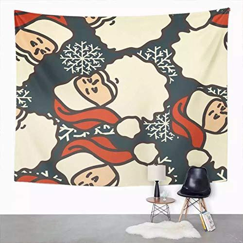 N/A Tapiz Tapiz Simple Tapiz de Cabeza de Papá Noel para decoración de habitación de Dormitorio Tapiz de Arte de Pared Colgante de Pared Estera de Picnic Toalla de Playa Cubierta de Cama