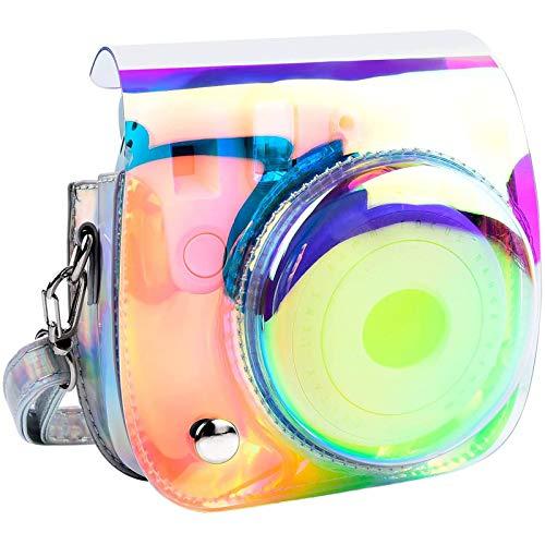 Kameratasche für Fujifilm Instax Mini 9 / Mini 8+/ Mini 8 Sofortbildkamera mit Schultergurt und Tasche für Fotozubehör (Shining Silver)