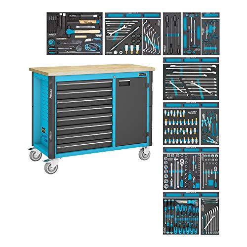 HAZET Fahrbare Werkbank 179NW-8/244 Schubladen flach: 8x 81x522x398 mm 244 teilig