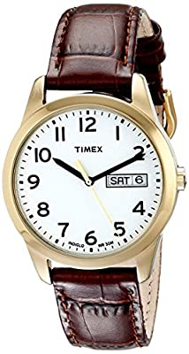 Timex Men's T2N065 South Street Sport Brown Croco Pattern Leather Strap Watch from Timex