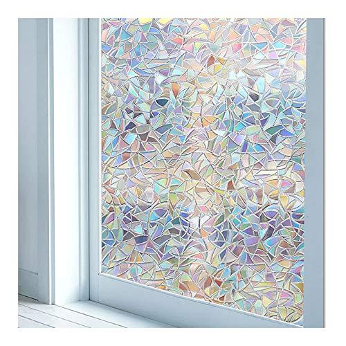 Jsdoin Window Film 3D Privacy Stain Glass Film NIAGUOJI Non-adhesive Static Cling Window Sticker 17.7in x 78.7in Anti UV Non-Adhesiv Window Stickers for Glass Door Home House Ofiice