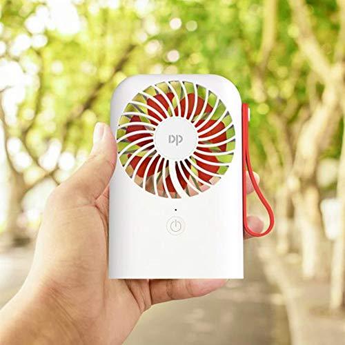ZUKULIFE Ventilador USB de Mesa Súper silencioso batería Recargable 4000mAh 3 Velocidades (Blanco)