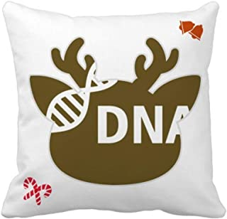 OFFbb-USA Gene - Funda cuadrada para almohada (estructura de doble hélice)