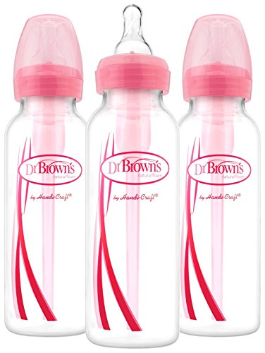 Save %14 Now! Dr. Brown's Options Narrow Bottles, 3 Pack, 8 Ounce, Pink