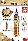 Educa - Puzzle 3D Madera Big Ben 24 Piezas (17304)