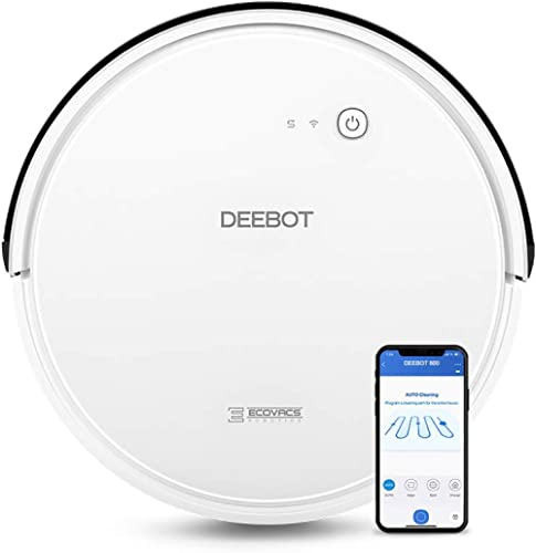 ECOVACS DEEBOT 600 Smart Robotic Vacuum Cleaner Max Model for All Floor Types with Wi-Fi Connectivity