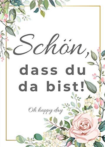"""50 Rubbelkarten\""""Schön, dass Du da bist!\"""", Hochzeit Spiel, Gastgeschenk Hochzeit Rubbelkarten 50 STÜCK (Hochzeit)"""