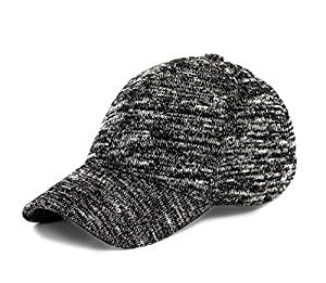 JOOWEN Unisex Knitted Textured Baseball Cap Soft Adjustable Solid Dad Hat For Women Men