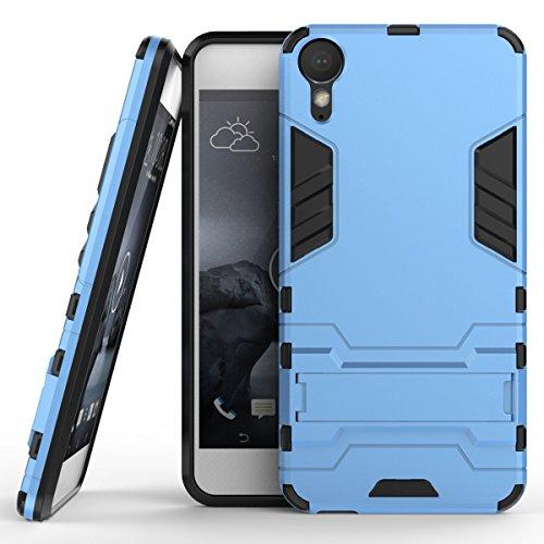 SsHhUu HTC Desire 10 Lifestyle Hülle, Stoßsichere Dual Layer Hybrid Tasche Schutzhülle mit Ständer für HTC Desire 10 Lifestyle 2016 (5.5