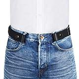VBIGER Cinturón elástico invisible sin hebilla para hombres Ancho 1.4' Se ajusta a 30' -59' (A-Negro, 120cm)