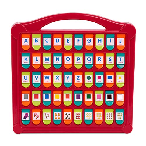 Battat – French Alphabet Toy for Learning – 50 Pop-Up Flaps – Letters, Words, Numbers, Colors, Shapes – Educational Toy for Toddlers, Kids – Hide & Seek Alphabet – 3 Years +