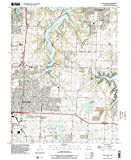 YellowMaps Lake Jacomo MO topo map, 1:24000 Scale, 7.5 X 7.5 Minute, Historical, 1996, Updated 2002, 26.9 x 21.9 in - Polypropylene
