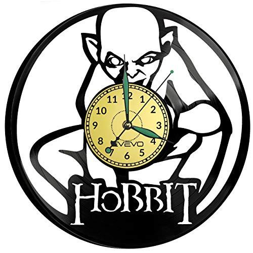 Lord of The Rings - Reloj de pared de vinilo, diseño retro, grande, decoración para el hogar, regalo ideal para novio, hombre, vinilo, decoración para el hogar, habitación inspiradora