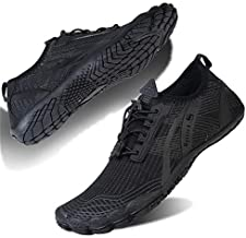 Water Shoes for Men and Women Barefoot Quick-Dry Aqua Sock Outdoor Athletic Sport Shoes for Kayaking, Boating, Hiking, Surfing, Walking (M-Black, 44)