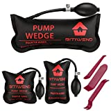 BITIWEND Air Shim,Car Air Wedge Pump 3pcs Inflatable Air Bag Shims for Leveling,Alignment,Contractor Tool,Inflatable Pump Wedge,Air Bag Removal Tool,Air Wedge Tool,Black