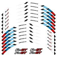 WhaleZ12ストリップモーターサイクルアウタータイヤホイールハブステッカーリフレクティブモトレーシングアクセサリーリムデコレーションデカール For BMW F800GT 用