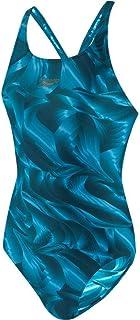Speedo Colourtone Allover Powerback Women's Swimsuit, womens, Swim Briefs, 8-06187D765, Nordic Teal/Powder Blue, 38