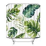 Aliyz tropischen Dschungel Palm Tree Leaves Home Hotel Dekoration mit Haken wasserdicht mehltau Stoff duschvorhang Polyester Material 71x71 Zoll Pokemon