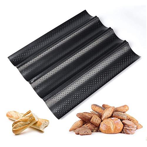 TaoToa Baguetteblech Baguette Backblech Baguette mit Antihaftbeschichtung zum Backen Carbonstahl
