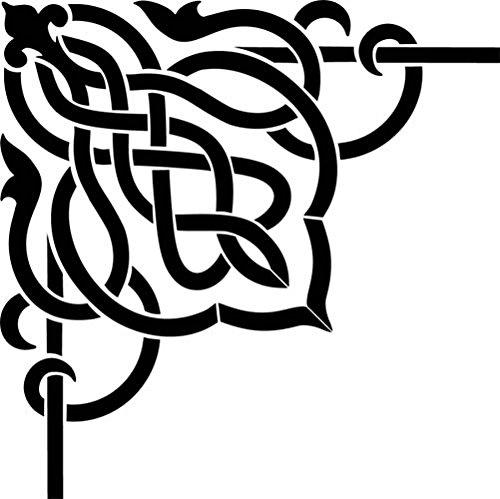Designer Stencils Celtic Scroll Corner Wall Stencil SKU #3595