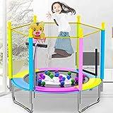 Trampolin Profesional Trampolín De Fitness para El Hogar para Niños con Red Protectora Rebounder Plegable para Jardín Al Aire Libre Cama Elástica 120 Kg (Color : Yellow, Size : 150 * 120cm)