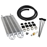 3mirrors Ultra-Cool Tube 402 4 Row Universal Aluminum Automatic Transmission Oil Cooler Kit with Installation Accessories